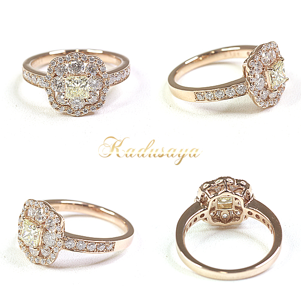 商品アップしました!イエローダイヤモンド デザインリング
