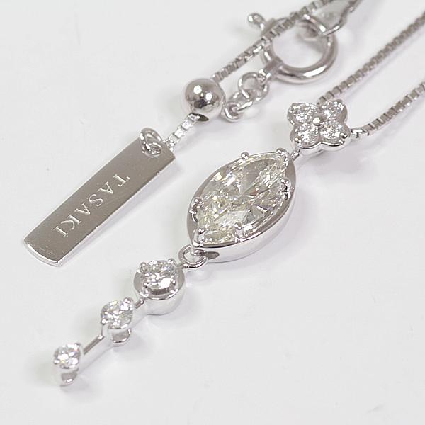 商品アップしました!TASAKI タサキ K18WG ダイヤモンドネックレス マーキス