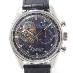 ZENITH ゼニス メンズ腕時計 クロノマスター オープン トリビュート シャルル・ベルモ 03.2085.4021/51.C700 世界限定1975本 ブルー文字盤【中古】