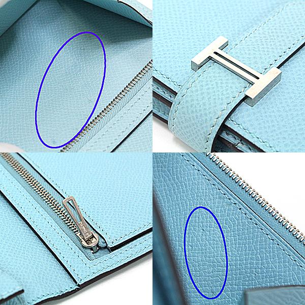 商品アップしました!HERMES ベアンスフレ 長財布 ブルーアトゥール T刻印