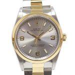 ROLEX ロレックス メンズ腕時計 オイスターパーペチュアル 14203 グレー文字盤 P番(2000年製) OH済【中古】
