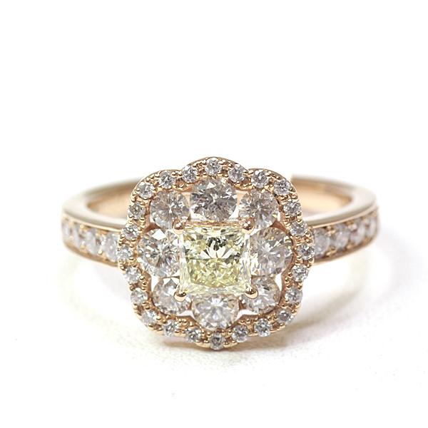 商品アップしました!素敵なイエローダイヤモンド デザインリング