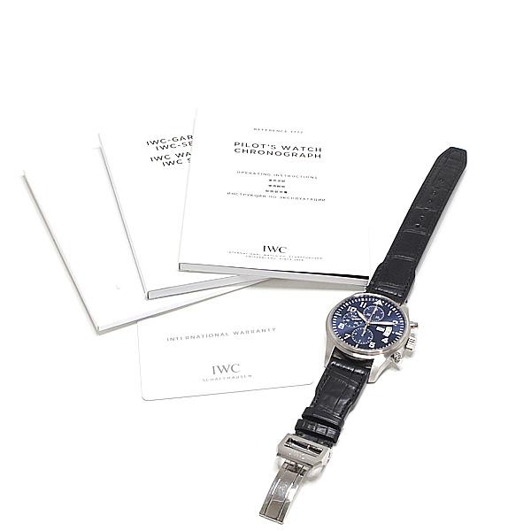 商品アップしました!IWC 腕時計 パイロットウォッチ クロノグラフ プティ・プランス IW377706 ブルー