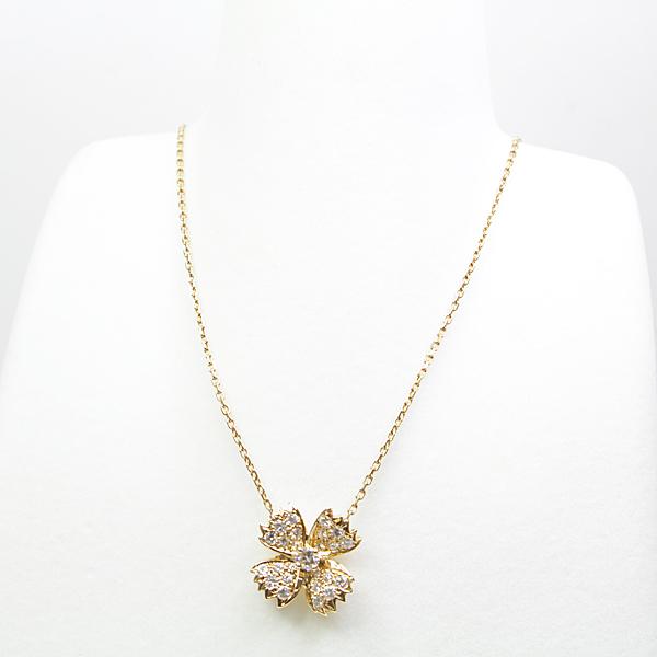 商品アップしました!ブシュロン BOUCHERON フラワーモチーフ ダイヤモンド ネックレス K18YG