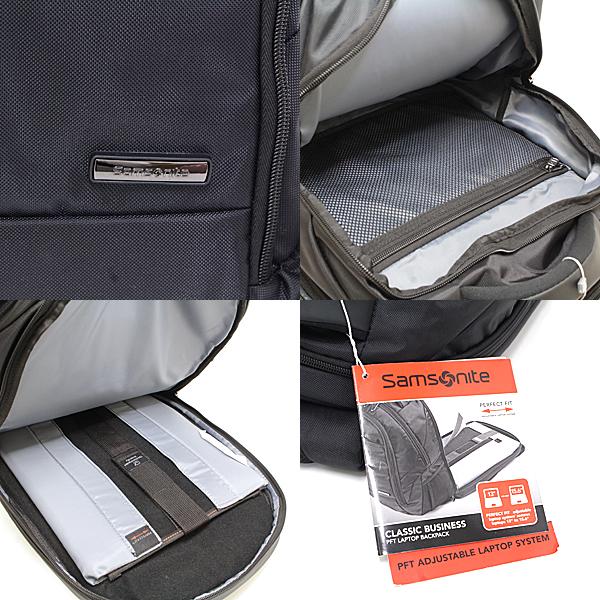 48c2ad332 サムソナイト samsonite バックパック CLASSIC BUSINESS PFT LAPTOP BACKPACK ブラック ナイロン 55937 -1041 リュックサック ビジネスバッグ 未使用品