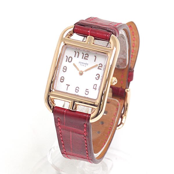 商品アップしました!HERMES エルメス レディース腕時計 ケープコッドミニ ホワイトシェル文字盤 クォーツ
