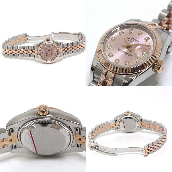 エバーローズゴールドとステンレスのコントラストが美しい ROLEX レディース腕時計 デイトジャスト 179171G のご紹介です。