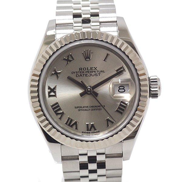 提携時計店にてOH、新品仕上げ、内部点検済 のROLEX レディース デイトジャスト 279174 シルバー文字盤 ランダムシリアル のご紹介です。