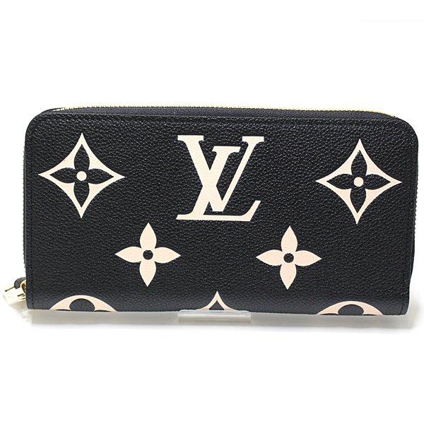 2色のモノグラム・アンプラントレザーで仕立てた Louis Vuitton ジッピーウォレット M80481 のご紹介です♬