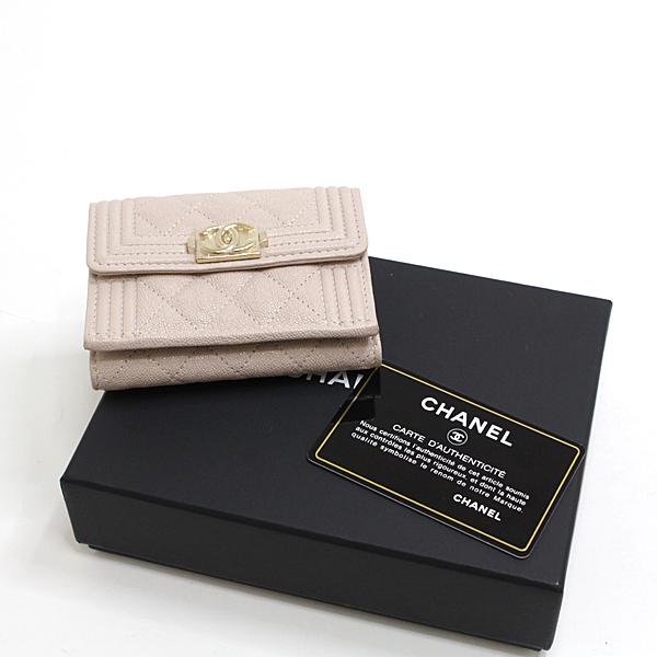春財布にいかがですか シャネルのコンパクトウォレット♪