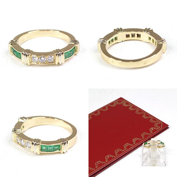 気品溢れるジュエリー Cartier コンテッサ ダイヤモンド エメラルド リング