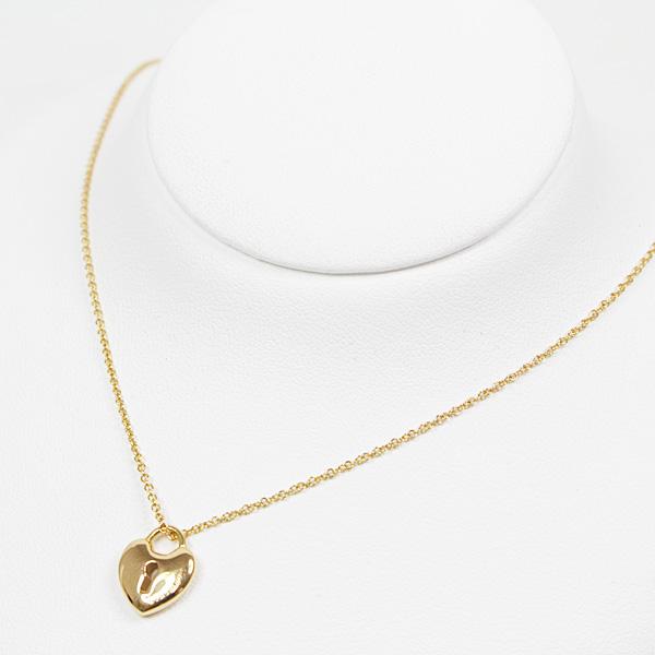 胸元に揺れるキュートなハートのカデナ♪ TIFFANY&Co. ロックハート ネックレス