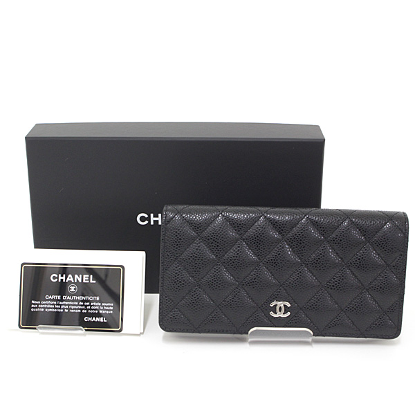 エレガントなマトラッセの長財布 CHANEL クラシック ロング フラップ ウォレット A31509