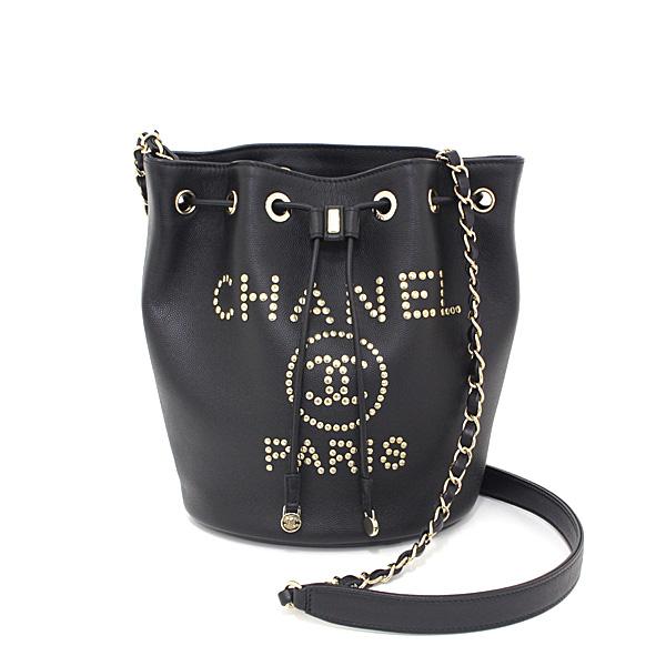 人気の巾着型ミニバッグご用意しています♪ CHANEL ドーヴィル スモール ショルダーバッグ AS1045
