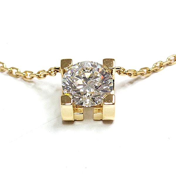 控えめなデザインの中に極上のエレガントさを感じさせる C ドゥ カルティエ ネックレス イエローゴールド ダイヤモンド のご紹介です。