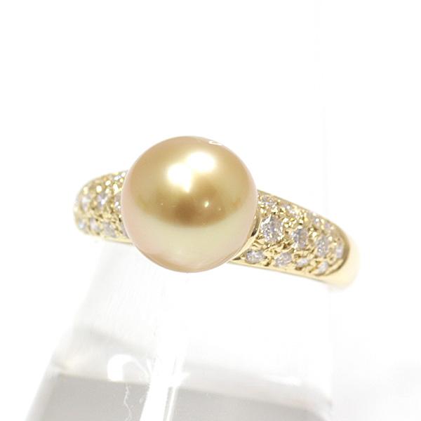 お手元を華やかに飾る 田崎真珠 ゴールドカラーの南洋真珠リング入荷です