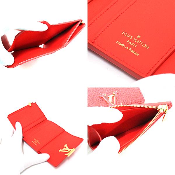 小さめのバッグにもピッタリの Louis Vuitton ポルトフォイユ カプシーヌXS M69069 コーラルタヒチ RA4129 日本限定 三つ折り財布 のご紹介です。