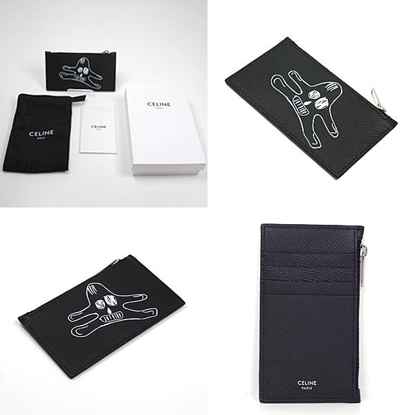 セリーヌとアンドレ・ブッツァー(AndreButzer)とのコラボ商品 Zipped Compact Card Holder 斬新なデザインが人目を惹きます。