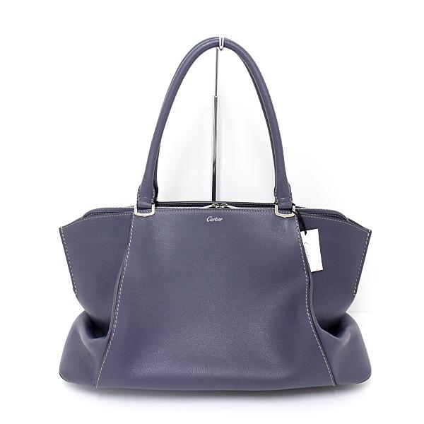 宝石にインスピレーションを受けて造られたC ドゥ カルティエMM パープル系のとても上品なトートバッグです。