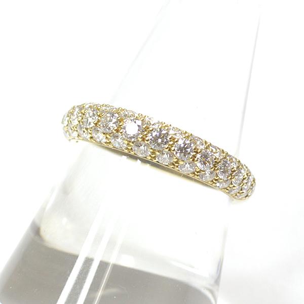 こだわりの日本発ジュエリーブランド「gimel(ギメル)」をご存じですか? パヴェダイヤモンド リング K18イエローゴールド 中古 11.5号  が入荷いたしました。