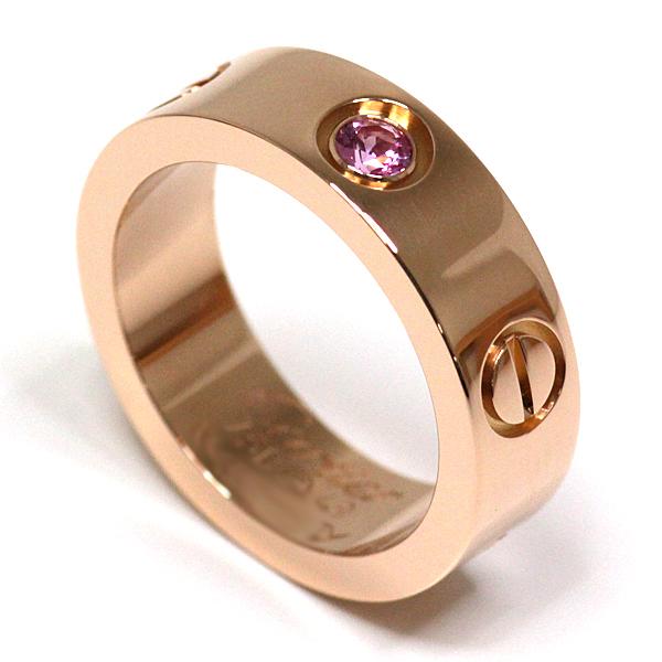 定番人気のCartier LOVEリング♪ピンクゴールドとピンクサファイアの組み合わせがエレガント♬仕上げ済の綺麗なお品物です。
