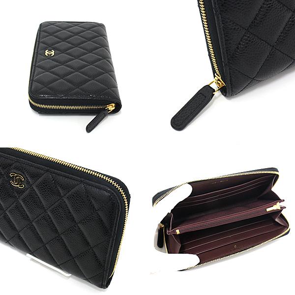 定番人気のお財布です!CHANEL クラシック ロング ジップ ウォレット AP0242 キャビアスキン ブラック 31番台 入荷致しました!