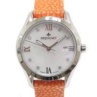 ホワイトデーにもピッタリ!オレンジのベルトがフェミニンなレディース腕時計