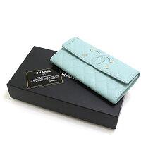 人気のキャビアスキンを使用した、美しいカラーのお財布です♪