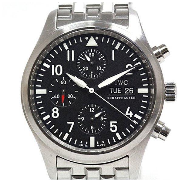 幅広い場面で活躍すること間違いなし!IWC メンズ腕時計 パイロットウォッチ クロノグラフ IW371704 ブラック