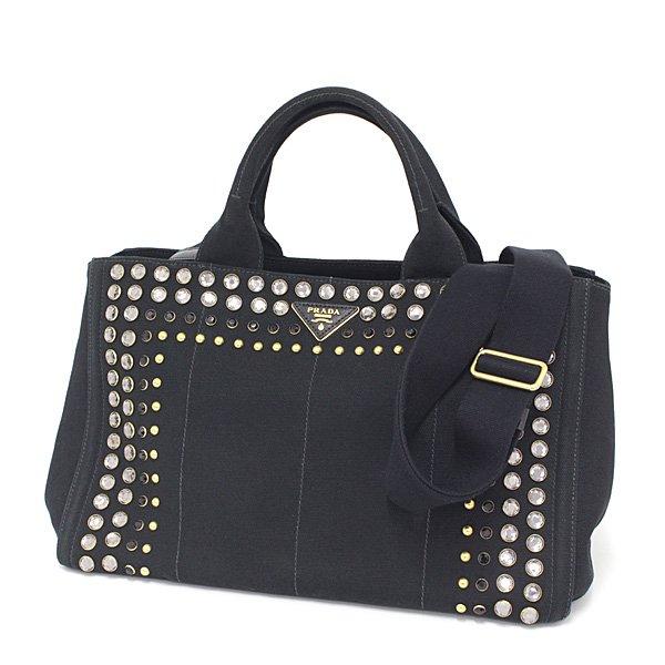エレガントなデザインの PRADA カナパ   ハンドバッグ はいかがですか?