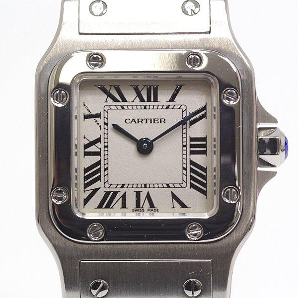 様々なスタイルに合わせやすい カルティエ レディース腕時計 サントスガルベSM のご紹介です。