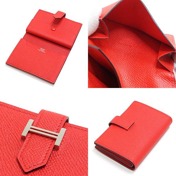 大人気のベアンシリーズより ベアンミニ コインケース カードケース エプソン シルバー金具 ルージュクー(赤)D刻印 のご紹介です。