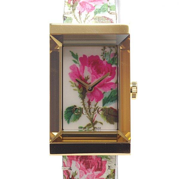 いつものコーディネートに明るさをプラス GUCCI フラワー柄のレディース腕時計 のご紹介です。