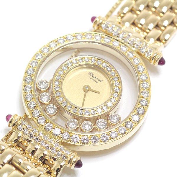 フルメンテナンス済み!7粒のムービングダイヤが躍る様に揺れ動く ジュエリーの様な腕時計 ショパール ハッピーダイヤモンドのご紹介です。