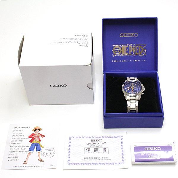 ルフィと一緒に出航だ~♬ ワンピース20周年記念  限定発売!SEIKO クウォーツ腕時計 クロノグラフ 7T92-HBMO  入荷致しました!