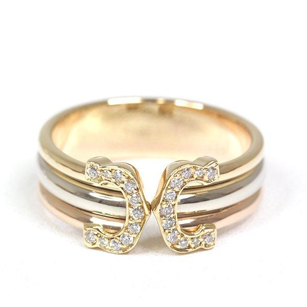 仕上げ済みの綺麗なお品物です。カルティエ Cartier 2Cリング お手物を華やかに演出致します♬
